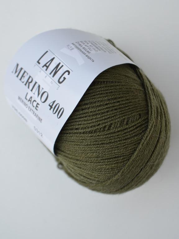 Merino 400 Lace 0098 dark olive