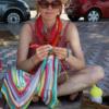 Mia på GarnTua virkar på Menorcafilten