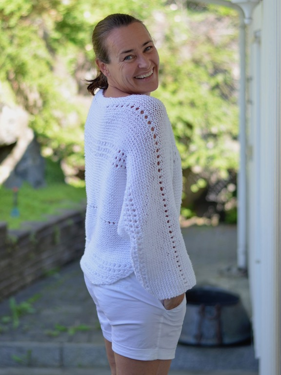 Waterdropsweater av @_stinemor_ Wooladdicts Happiness eller Water